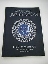 Vintage Art Deco 1934 Mayers Wholesale Jewelry Catalog W/ Watches Gold Silver ++