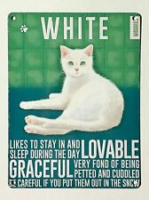 White Moggies Cats SML - Tin Metal Wall Sign