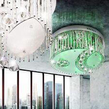 LED Lüster Decken Leuchte Rund Dimmbar Kristall Fernbedienung Farbwechsler Ø51cm