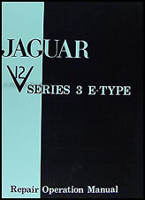 Jaguar XKE Repair Manual 1971 1972 1973 1974 XK E Type V12 Service Shop Book