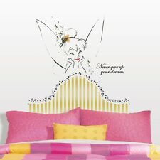 New TINKER BELL HEADBOARD WALL DECALS Disney Fairies Tinkerbell Stickers Decor