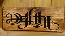 LIFE DEATH Ambigram Plaque Signs Porch Conservatory Lord of the Ring Old English
