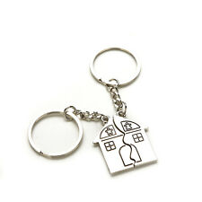 2 X Couple House Key Chain Gift Trinket for Lovers Alloy Jewerly Sweetheart CEF