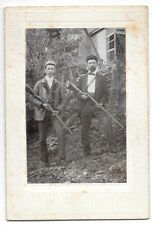 Mounted Photograph Two Hunters with Shot Guns and Shells~103521