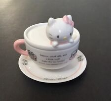 VINTAGE CERAMIC SANRIO HELLO KITTY TEACUP WITH SAUCER RING HOLDER