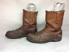 #13 VTG MENS RED WING WORK LEATHER BROWN BOOT SIZE 9 E