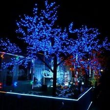 55ft- 55' BLUE LED Outdoor Party Lights Pool Porch Patio Gazebo Deck Dock