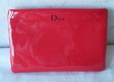 CHRISTIAN DIOR Red Cosmetic Makeup Toiletry Travel Case Pouch Bag Unisex UNUSED