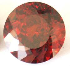 Top 14 mm Reddish Orange Fancy Double Round Brilliant CZ AAAAA