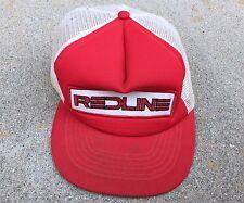 Redline Vintage Mesh Back Cycling Hat Cap - Red
