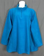 plus size warm WOMAN WITHIN 1/4 zip front fleece jacket 4X 34 36  bright blue