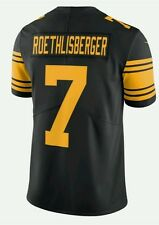 BEN ROETHLISBERGER PITTSBURGH STEELERS #7 jersey stitched NEW COLOR RUSH!!  XXL