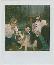 Found Polaroid PHOTO Group Young People Guy & Girls w/ Dogs