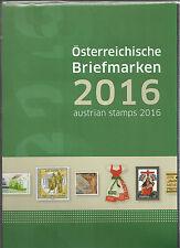 Österreich Jahreszusammenstellung der österr Post  2016  postfrisch  komplett
