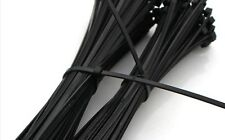 """100 PCS Pack 12"""" inch  Black Network Cable Cord Wire Tie Strap Zip Nylon"""