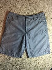 Mens Hurley Board Shorts sz 34 Gray Pin Dot Kd1
