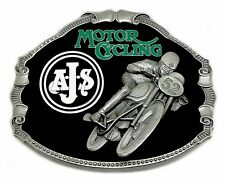 AJS Belt Buckle Classic Bike Scooter A.J.S. Biker Authentic Officially Licensed