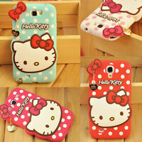 HOT Cute Hello Kitty Silicone Easter Gift Case Cover For Samsung Galaxy SM-Model