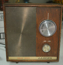 Lloyd's Solid State Wooden All Transistor AC Table Radio Model 8H24 Series 03A