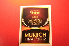 PANINI CHAMPIONS LEAGUE 2011/12 N 558 BADGE WOMEN'S LEAGUE BLACK BACK MINT!!