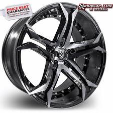 """Marquee Luxury 3284 20""""x9 Smoked Polish / Black Wheels Rims (x4) - FREE SHIPPING"""