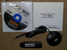 WIFI MAX USB CONNECTOR Wireless Network Adapter PLAYSTATION 3 PS3 Wii DS DSi PSP