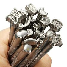 20 PCS/Set Leather Working Saddle Leather Craft Carve Stamps Making DIY Tools