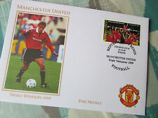 Phil Neville MANCHESTER United 1999 Treble Winners First Day Cover / FDC