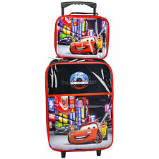 CHILDREN'S DISNEY CARS DELUXE 2 PIECE WHEELED TROLLEY CABIN CASE SET BRAND NEW