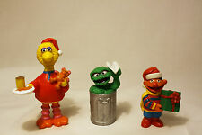 Sesame Street Characters: Christmas Big Bird & Ernie; Oscar The Grouch  3 in set