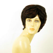 wig for women 100% natural hair black and red wick ref  MALORIE 1b410 PERUK