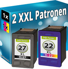 TINTE PATRONEN REFILL für HP 27 + 22 OfficeJet 5605 5608 5610xi 6110xi SET COLOR
