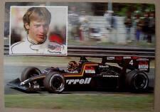 1984 original seba med Werbe AK F1 Pilot Stefan Bellof Gießen auf Tyrrell