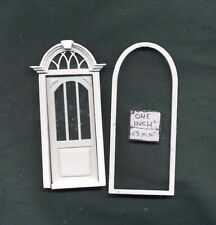 Half 1/24 Scale Door by Bespaq S806WO Craftsman style dollhouse miniature