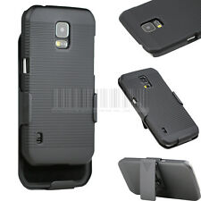 Black Swivel Holster Belt Clip Case Hard Cover For Samsung Galaxy S5 Active G870