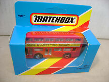 1983 MATCHBOX LESNEY SUPERFAST MB17 LONDON BUS NICE TO MEET YOU JAPAN NEW MIB