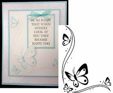 Darice Embossing Folders BUTTERFLIES IN CORNER folder 1218-107 Animals,insects
