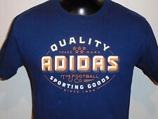 ADIDAS SPORTING GOODS FOOTBALL COMPANY NAVY S SLEEVE ATHLETIC SPORT T SHIRT S