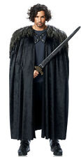 ADULT MEDIEVAL KING RENAISSANCE VIKING WARRIOR LORD ARAGORN COSTUME CAPE BLACK