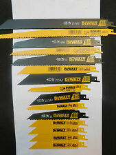 "1-DEWALT & 2X RECIPROCATING METAL/WOOD 15-PC.12""9""8""6""L SAW BLADE ASSORTMENT NEW"