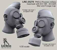 Live Resin 35270 1/35 PMG-2 Russian Military Gasmask with EO-18K, EO-62K (2)