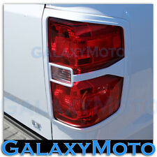 14-15 Chevy Silverado 1500 Summit White Taillight Trim Bezel Cover 2014-2015