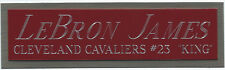 LEBRON JAMES CAVALIERS NAMEPLATE FOR AUTOGRAPHED Signed JERSEY-BASKETBALL-PHOTO
