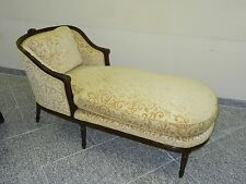 ANTIQUE LOUIS XVI STYLE LUSH NEW UPHOLSTERED CARVED WOOD RECAMIER DAYBED CHAISE