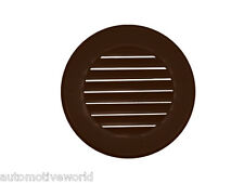 "Brown Circle Air Vent Grille 80mm / 3.14"" Ducting Round Ventilation Cover M024BR"