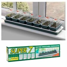 GARDEN GREENHOUSE SUPER 7 ELECTRIC WINDOWSILL HEATED PROPAGATOR
