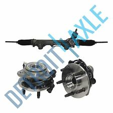 Rack And Pinion + 2 Front Wheel Hub and Bearing for Dodge Ram 1500 w/ABS 2WD