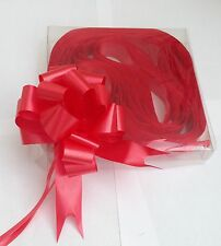 10 x Red Quick Bow Pull Ribbon Wedding Engagement Childrens Party Decorations