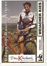 CYCLISME carte cycliste BENJAMIN BAUMGARTNER équipe WEIACHER KIES  signée