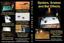 Spiders Snakes DVD Halloween Video Projection DVD BUY NOW - By Jon Hyers